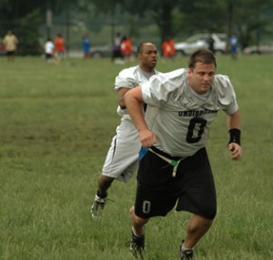Flag Football Image: Blocking Big Guys
